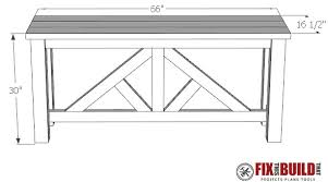 sofa table plans. DIY Truss Sofa Table Plan Plans O