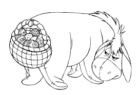 Small Picture Printable Eeyore Easter Basket Coloring Page Printables for Kids