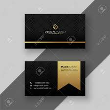 Visiting Card Design Black And Gold Stylish Black And Golden Business Card Design