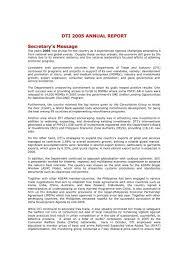 dti 2005 annual report
