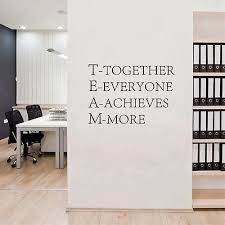wall pictures for office. team motivational quote office wall sticker quotes vinyl decals art pictures for i