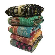 Sari Quilt | eBay & Wholesale Lot Indian Vintage Kantha Old Sari Handmade Cotton Reversible  Quilt Adamdwight.com