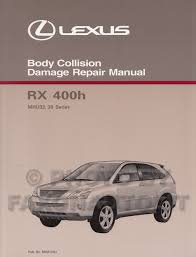 2006 lexus rx 400h repair shop manual 4 volume set original hybrid 2006 2008 lexus rx 400h body repair shop manual