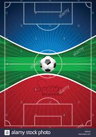 soccer field templates abstract blue red soccer brochure template with ball and field stock
