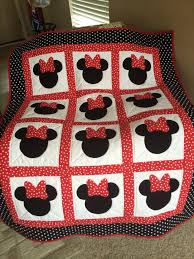 567 best Quilt Projects images on Pinterest | Bath, Bedding and ... & Quilting Patterns and Tutorials: Minnie Mouse Quilt - Free pattern - This  would be cute with the bows made from special material (outgrown baby  outfits, ... Adamdwight.com