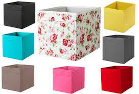 Fabric Magazine Holder Ikea Drona Box Storage Fabric Magazines Books Expedit Kallas Black 94