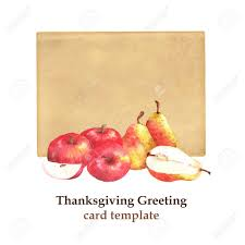 Apples To Apples Card Template Thanksgiving Greeting Card Template Hand Drawn Illustration Stock