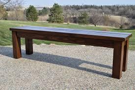simple indoor outdoor rustic bench plan