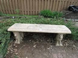 cement garden bench. Contemporary Cement Lot 226 Of 237 Cement Garden Bench With Lion Feet For Garden Bench T