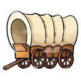 Image result for pioneers covered wagon clip art
