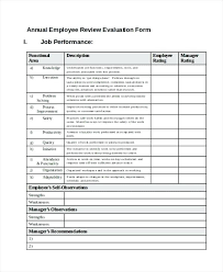 New Employee Evaluation Template – Custosathletics.co