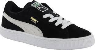 puma shoes suede. puma suede kids shoes - black / white o
