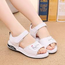 girl s sandals girls real leather shoes big boy casual sandals summer children princess 2018