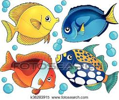 coral reef fish drawing.  Fish Clipart  Coral Reef Fish Theme Collection 2 Fotosearch Search Clip Art  Illustration Inside Reef Fish Drawing
