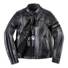 black piston motorcycle jacket