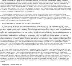bipolar disorder at com essay on bipolar disorder