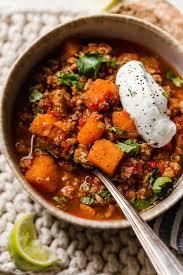 no bean turkey sweet potato chili