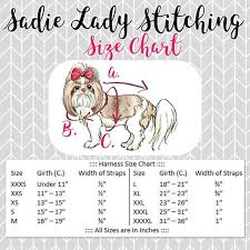 Bird Size Chart The Lillian Dog Harness Dress Bird Dog Harness Bird House Dog Collar Teal Dog Harness Shih Tzu Harness Shih Tzu Dress Pom Pom Dress