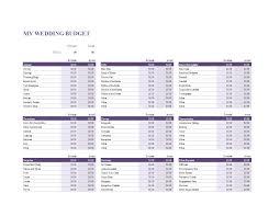 Sample Wedding Budget Spreadsheet Wedding Budget Spreadsheet Sheet In Excel Templates At
