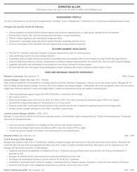 Resume Template Food Prep Resume Example Diacoblog Com