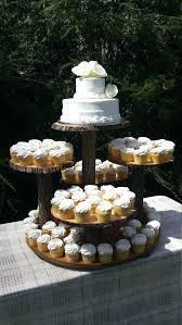 cup cake stand rustic cupcake log tree by target cup cake stand