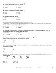 Pictures on 4th Grade Math Test Prep Worksheets, - Easy Worksheet ...