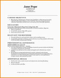 Resume Examples For Entry Level