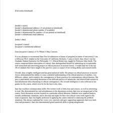 Personal Reference Or Recommendation Letter Template Sample : Vlcpeque