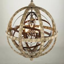 captivating wood sphere chandelier antique lighting globe wooden crystal pendant light with led and metal furniture
