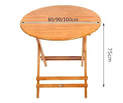 wood dining table legs bamboo furniture folding round table outdoor indoor garden table legs portable wooden