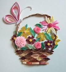 Paper Quilling Flower Baskets How To Make Paper Quilling Flowers Basket Basket Of Quilled Flowers