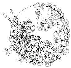 fantasy fairy coloring pages printable fairy coloring pages mandala like fairy fantasy coloring page here you