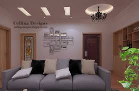 Small Picture gypsum fall ceiling design with hidden lighting for living room
