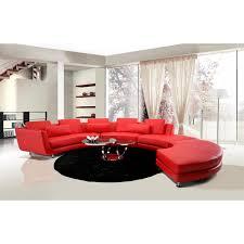 modern leather sectional sofas. Divani Casa A94 - Contemporary Leather Sectional Sofa \u0026 Ottoman. \u003e Modern Sofas H