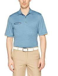 Greg Norman Mens Frequency Heathered Polo