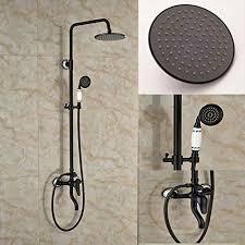 senlesen oil rubbed bronze bath shower faucet set