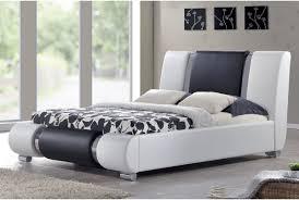 Sorrento Bedroom Furniture Sorrento Designer Bed Frame White Black With Chrome Double Or