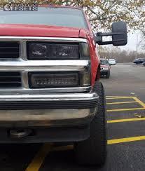 Wheel Offset 1992 Chevrolet K1500 Aggressive 1 Outside Fender Stock