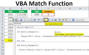 Charting The Match 2015 Vba Match How To Use Match Function In Vba Excel Examples