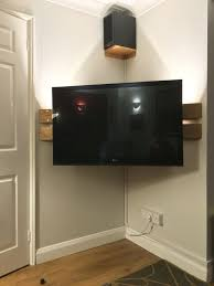 Corner Tv Wall Mounts With Shelves Adorable Great Corner Tv Idea Living Room With On Wall Stand Mount New Best