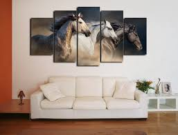 runnig horses 5pcs large canvas print art painting picture home decor wall on large print fabric wall art with runnig horses 5pcs large canvas print art painting picture home
