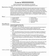 92a Resume Automated Logistical Specialist Resume Example 92a U S Army
