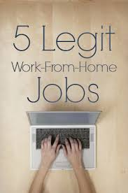 legitimate work from home jobs opportunities