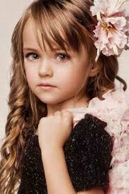 Little Girl Hair Style side bangs with floral hairstyle for long curly hair little girls 6554 by wearticles.com