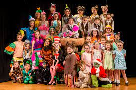 Seuss characters spring to life onstage in seussical jr. Seussical Jr Red Curtain Theatre