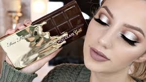 too faced chocolate gold bar palette tutorial jazzi filipek