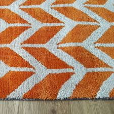 arlo chevron rugs orange ar07