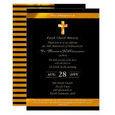 Ordination Invitation Template Priest Ordination Anniversary Invites 50th Gold