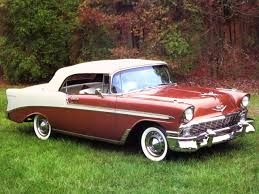 1956 Chevrolet Bel Air Convertible Brown Fvr - Cars Wallpaper