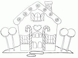 Free Printable Christmas Gingerbread House Coloring Pages | Best ...